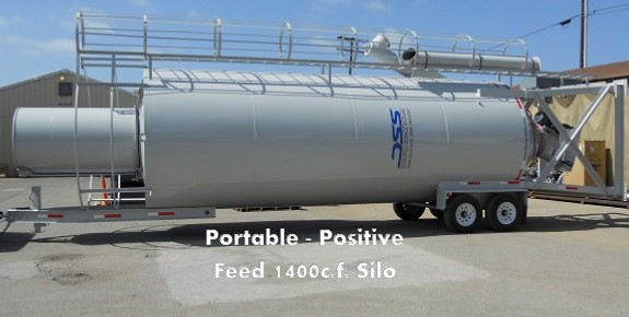 Portable Positive Feed 1400 cf Silo